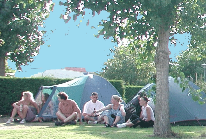 campsite young people